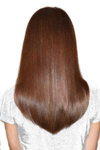 髪質を改善した本来の艶のある髪